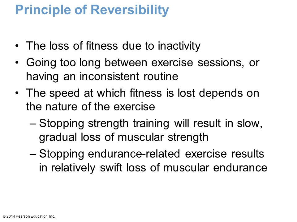 Principle of Reversibility