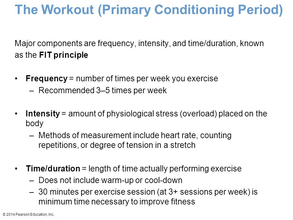 The Workout (Primary Conditioning Period)