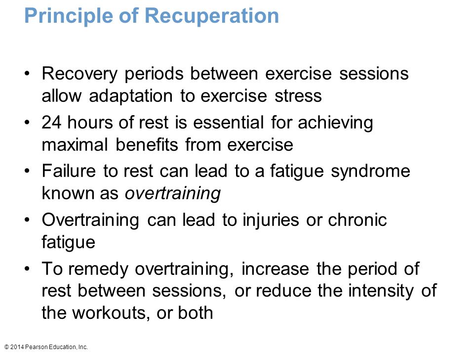 Principle of Recuperation