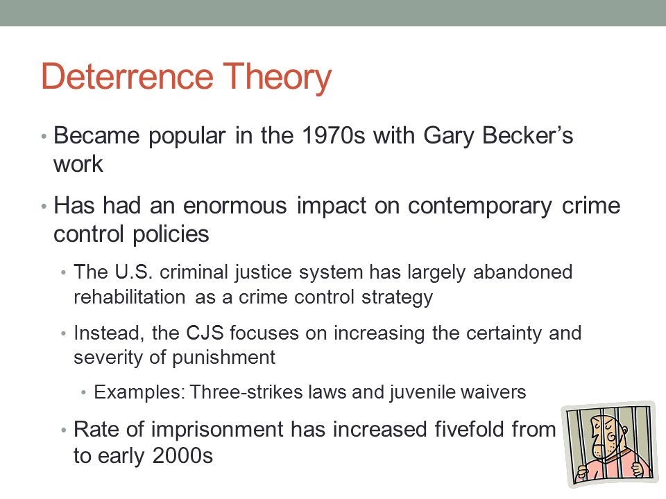essay on deterrence theory Finally, this essay observes, whilst arguing that deterrence as a penological theory is morally and empirically unsound, that it would be impractical to assume that.