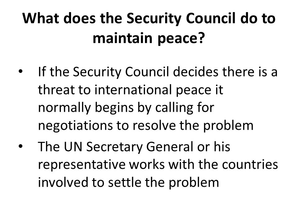 maintain international peace and security Cooperating on maintaining international peace and security since the early   un security council resolutions have provided the mandate for.