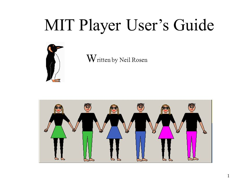 MIT Player User's Guide