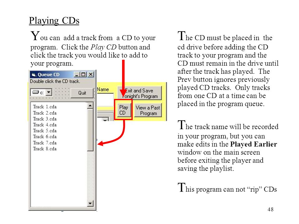 This program can not rip CDs