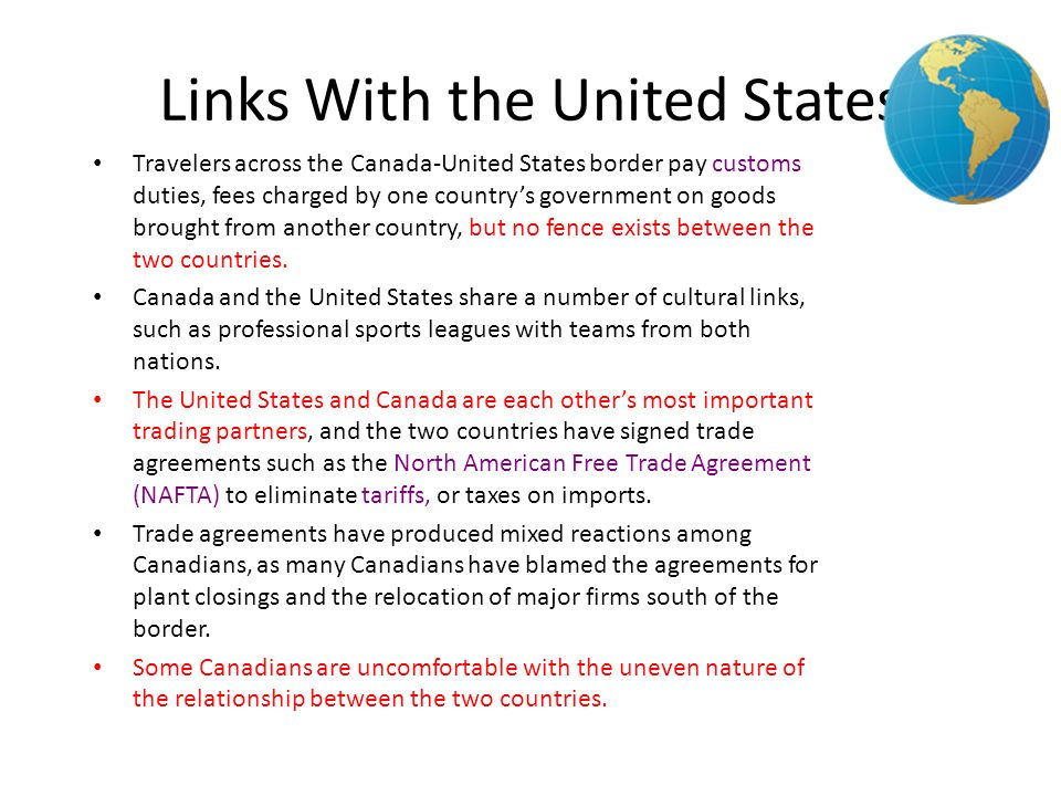 Links With the United States