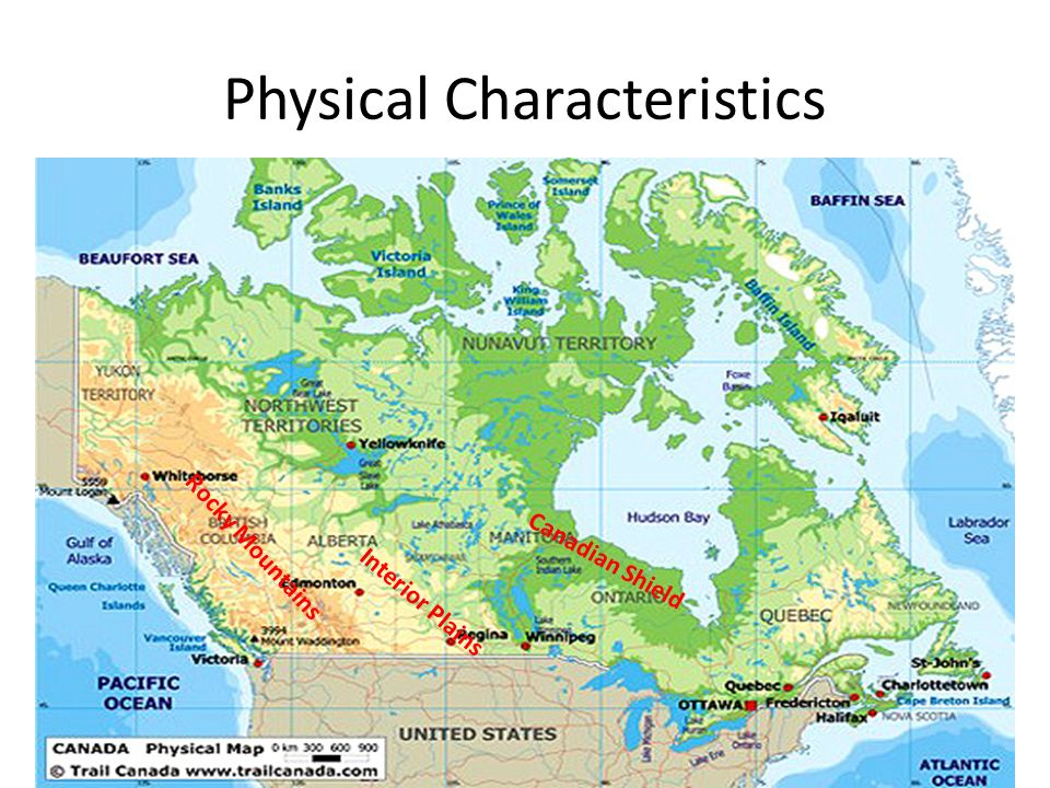 Regions Of Canada Key Terms Province A Political Division Ppt - Physical characteristics of canada
