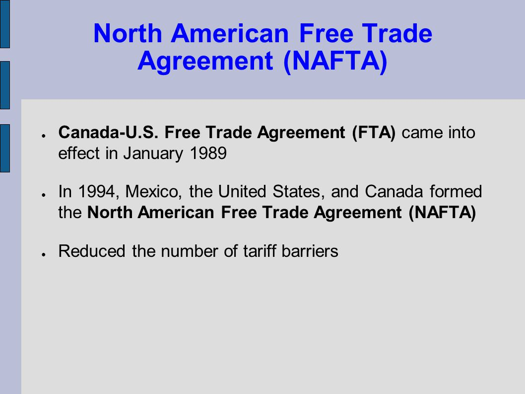 a comprehensive analysis of the north american free trade agreement Note: analysis reflects usda-published us census foreign trade division agricultural trade data, and may not be the point of origin for agricultural commodities as modernization of the north american free trade agreement, or nafta 20, continues, concern from the agricultural community over a.