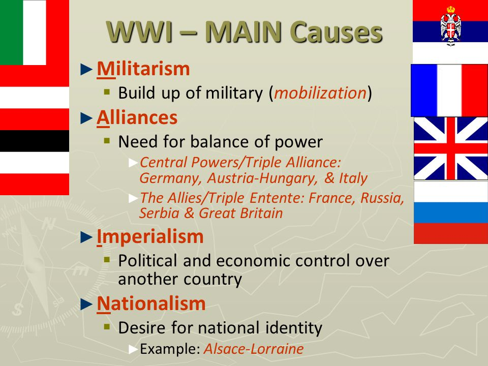 the alliances from imperialism as the root cause of world war i How did militarism, alliances, imperialism, and nationalism led up to world war i.