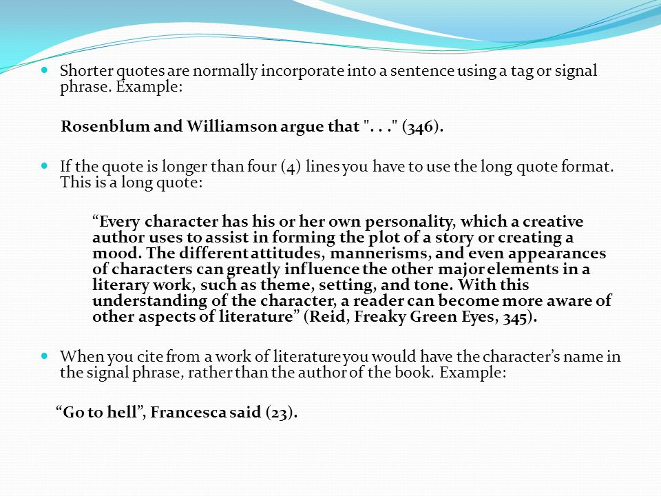 2 Quotes: APA FORMAT QUOTES LONGER THAN 4 LINES image quotes at