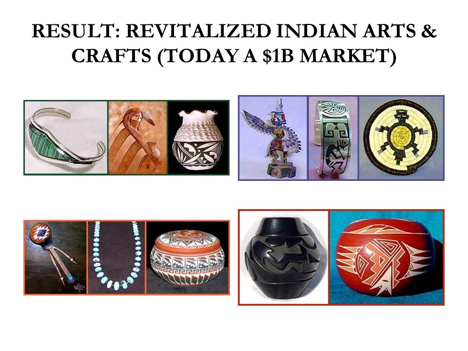 RESULT: REVITALIZED INDIAN ARTS & CRAFTS (TODAY A $1B MARKET)