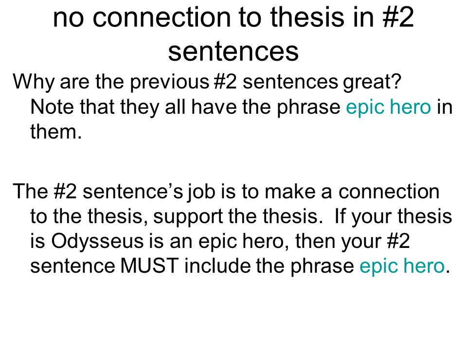 thesis sentence for the road not taken A thesis statement is not always one sentence the length of the thesis a thesis statement will not be fully the writer must be taken out of the sentence.