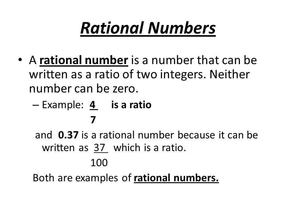 written rational