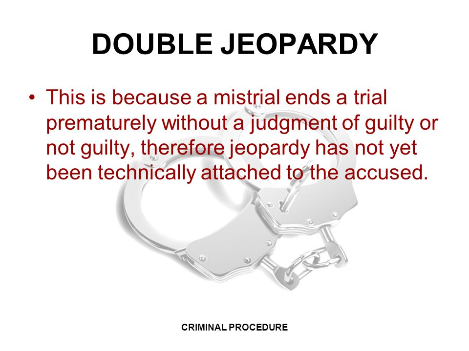 essays on the double jeapordy law The trouble with double jeopardy a new supreme court case takes on one of the most well-known and misunderstood concepts in american criminal law.