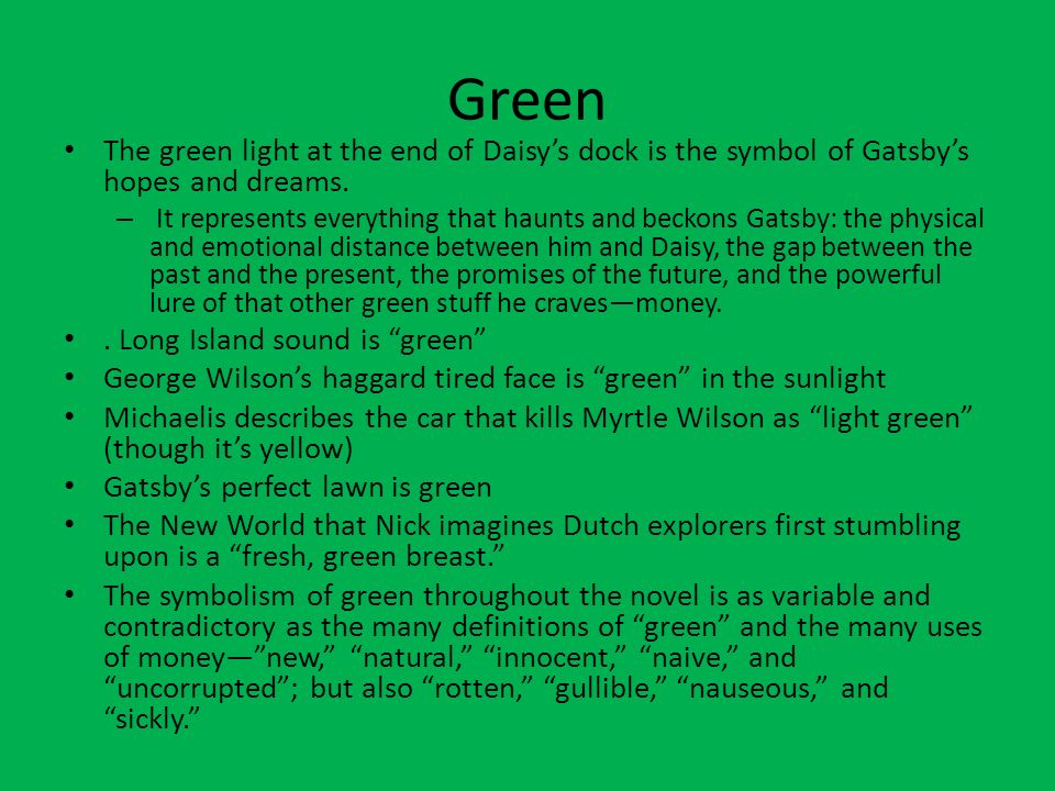 great gatsby symbolism essay green light Free essay: gatsby symbolism essay the great gatsby by f scott fitzgerald is regarded as one of the most famous literature works of all time it has.