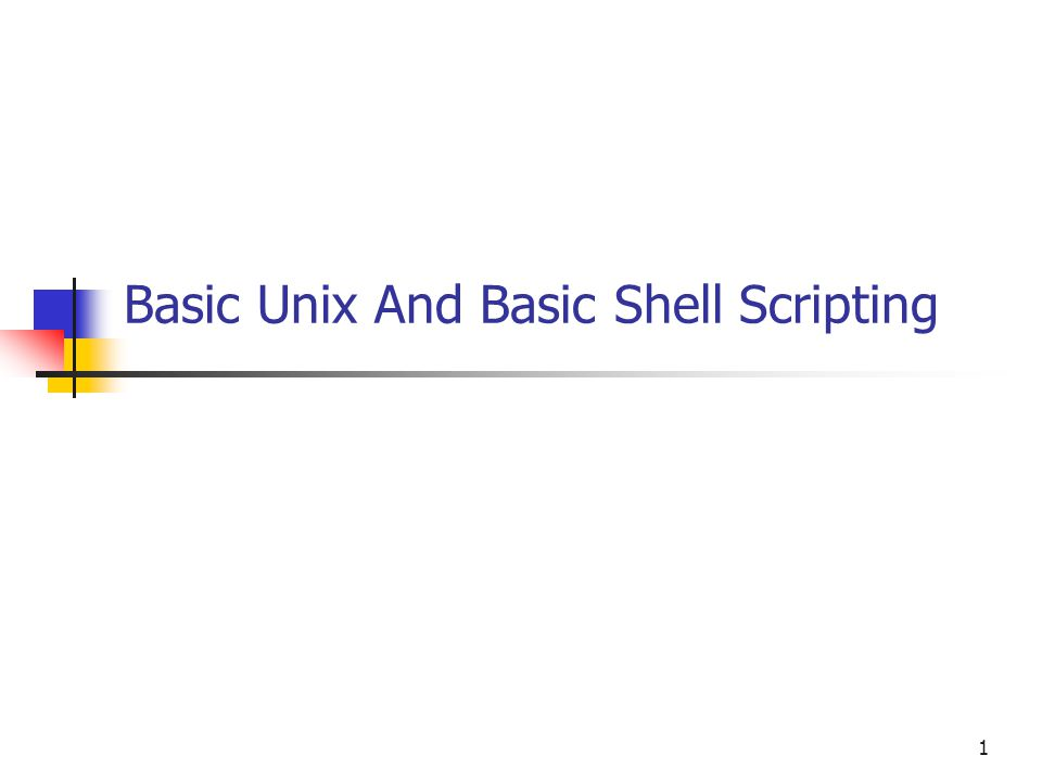 sample shell scripting