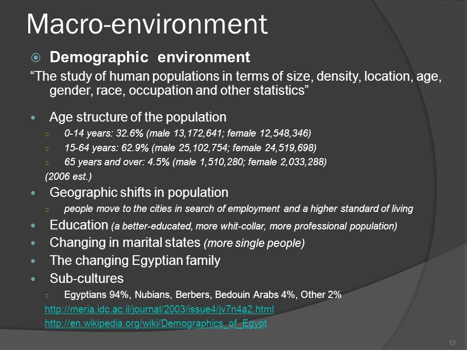 macro environment egypt Organisation and its environment, the micro and macro environment and its business environment 3 elements like customers, competitors, organisation, market.