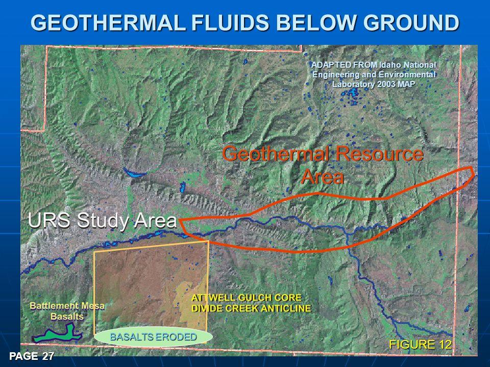 GEOTHERMAL FLUIDS BELOW GROUND