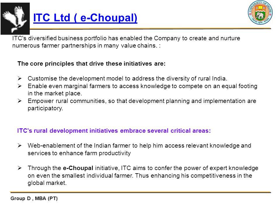 ITC Ltd ( e-Choupal)