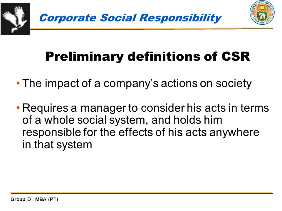 social responsibility of business entities 26 the role of a board committee on corporate social responsibility (csr)  the role of business in society is a legitimate aspect of business leadership.