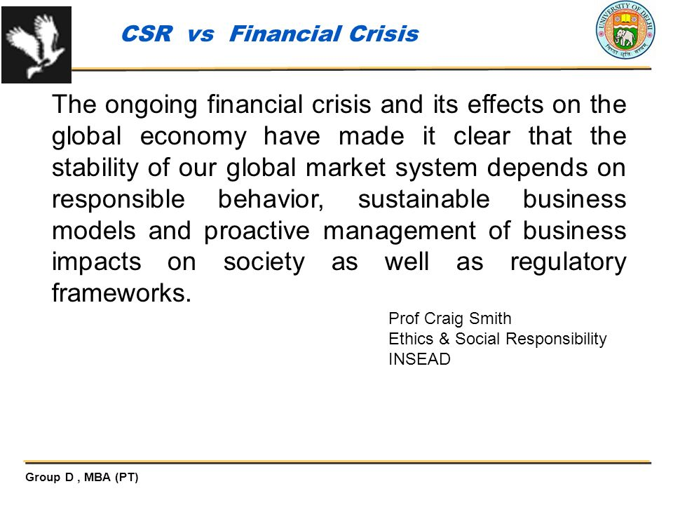 CSR vs Financial Crisis