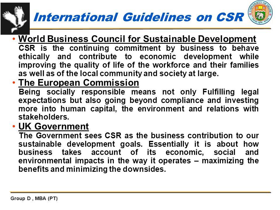 International Guidelines on CSR