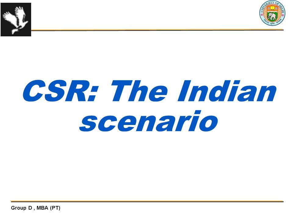 CSR: The Indian scenario