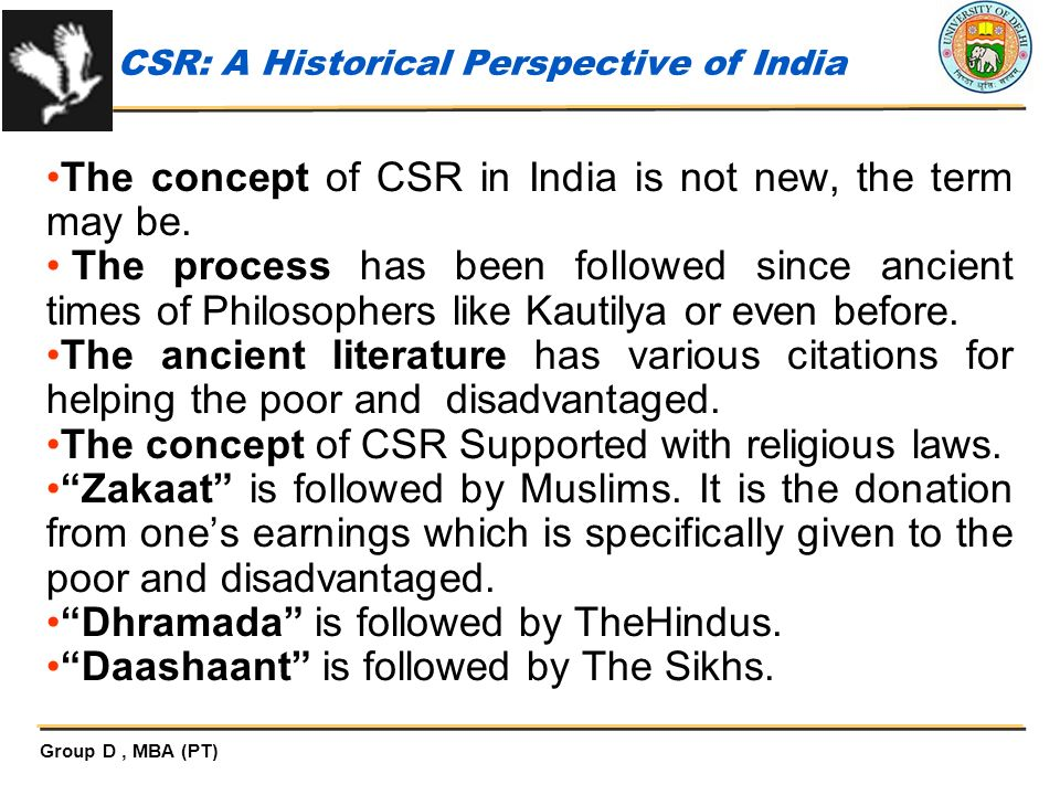 CSR: A Historical Perspective of India
