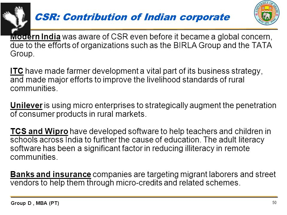 CSR: Contribution of Indian corporate