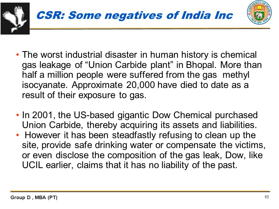 CSR: Some negatives of India Inc