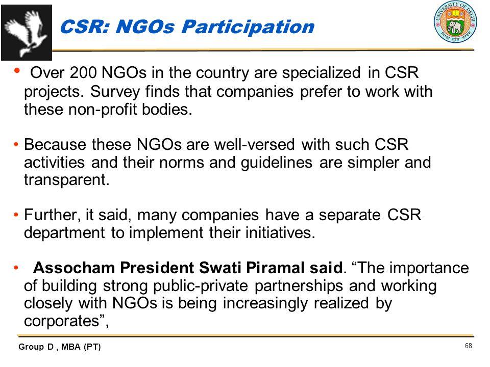 CSR: NGOs Participation
