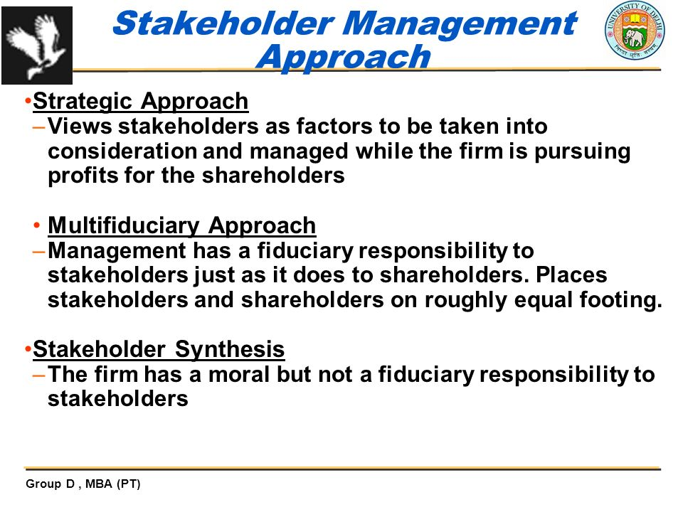 Stakeholder Management Approach
