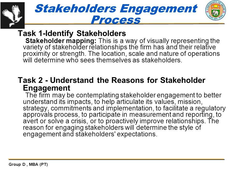 Stakeholders Engagement Process