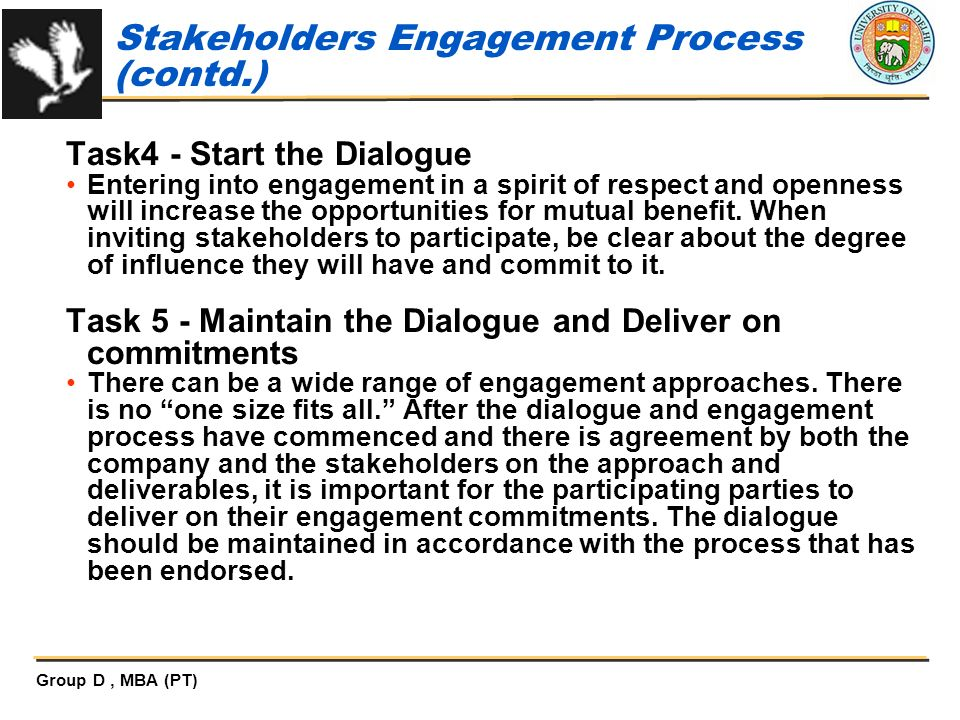 Stakeholders Engagement Process (contd.)