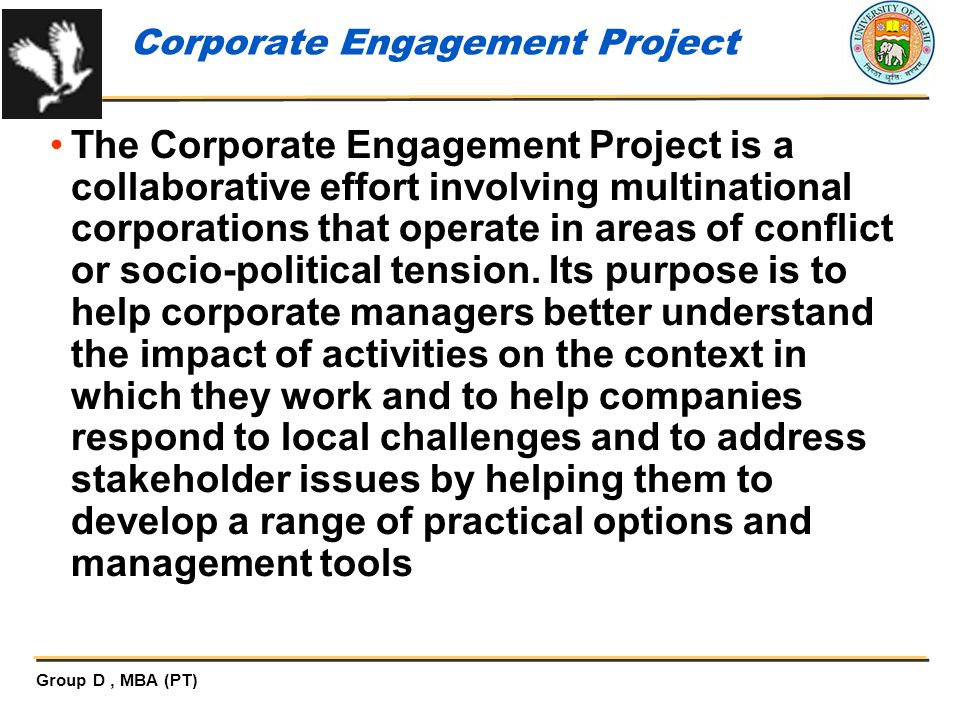 Corporate Engagement Project