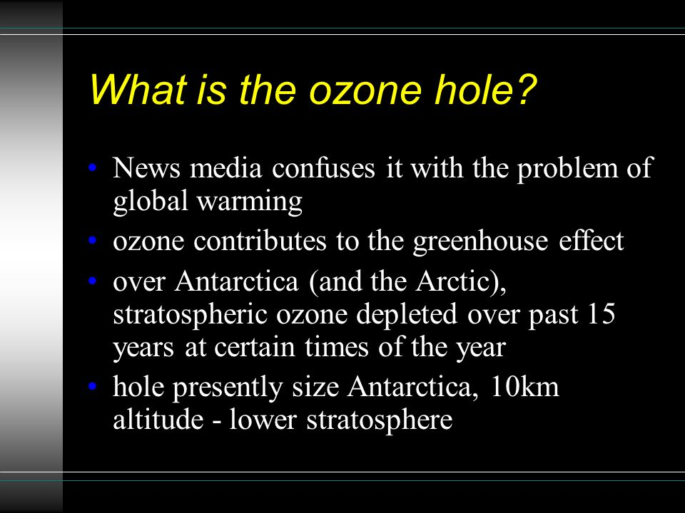 an analysis of the death of the ozone by the greenhouse effect Alex cook is the pen name of a retired physics professor and atmospheric scientist who is also the author of the greenhouse effect - a legacy, dog ear publishing, 2007, and the family guide to disruptive climate change, outskirts press, 2010.