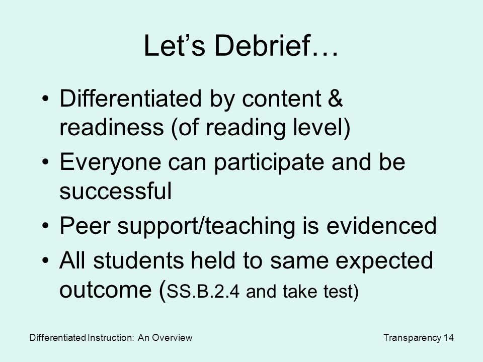 differentiated instruction research paper