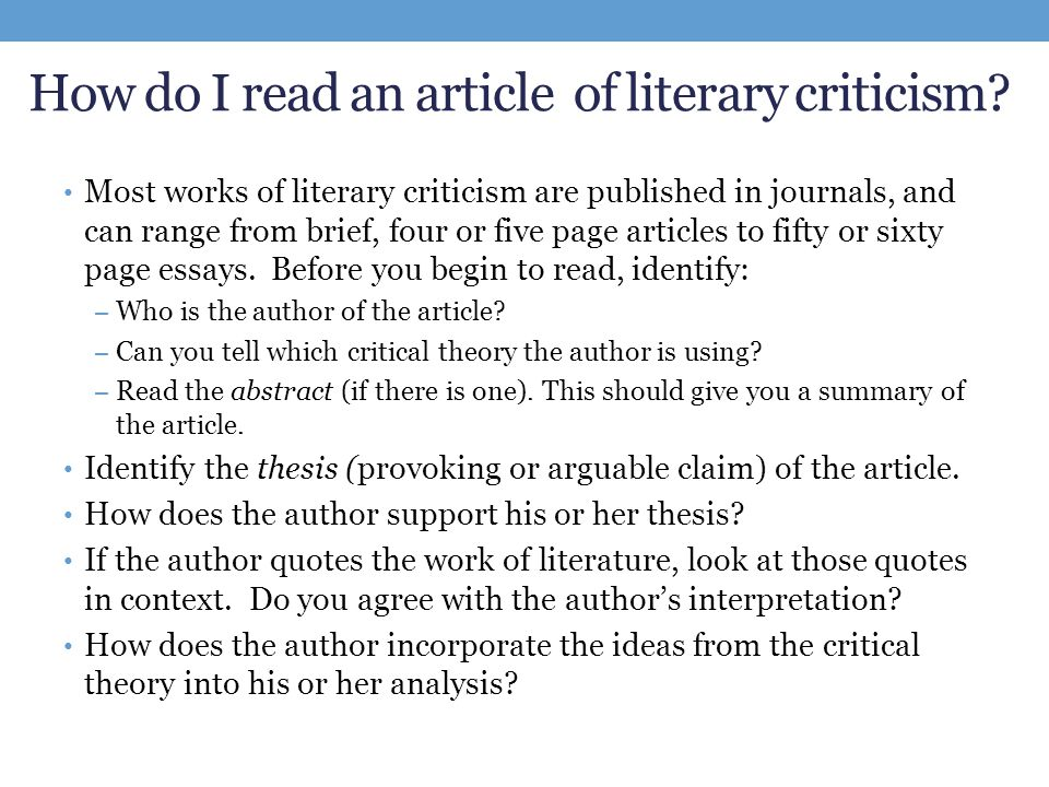 Lines from an essay in criticism
