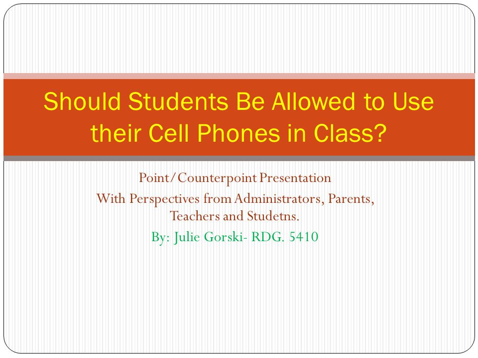should student use their cell phones