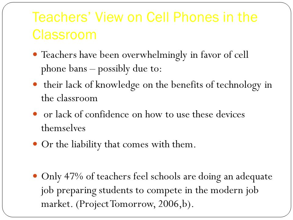Modern Classroom Benefits ~ Should students be allowed to use their cell phones in