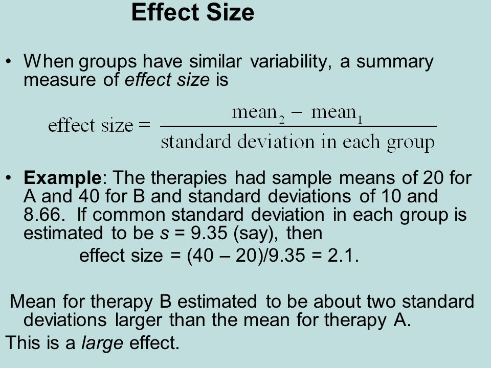 how to tell if an effect size is large