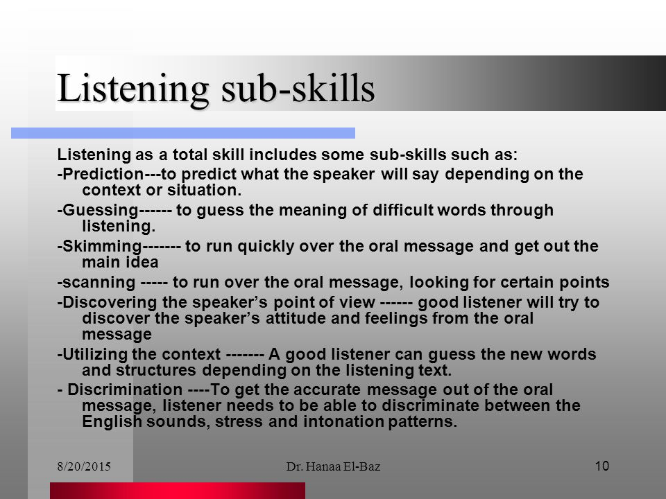 Lecture 3 Teaching Listening - ppt video online download
