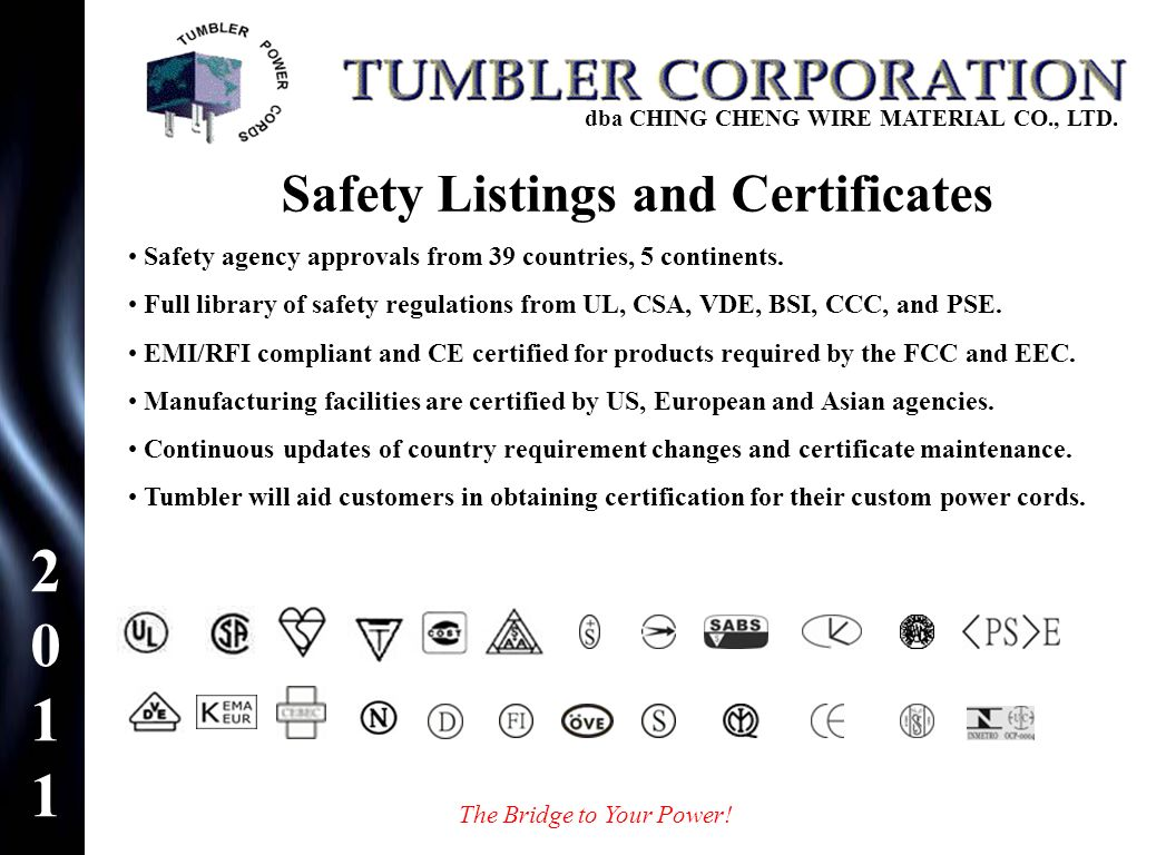 Safety Listings and Certificates