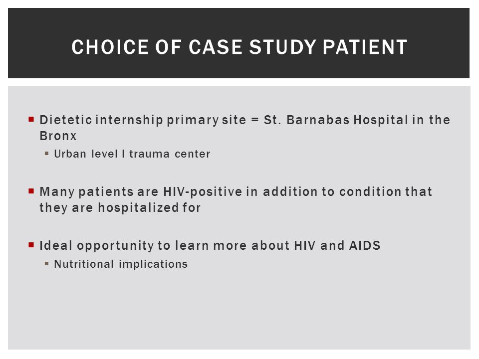 case study of hiv aids patient
