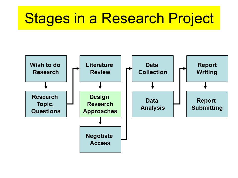 Stages in a Research Project