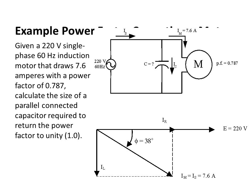 Asabe pe review session circuits controls and sensors for Power factor correction capacitors for motors