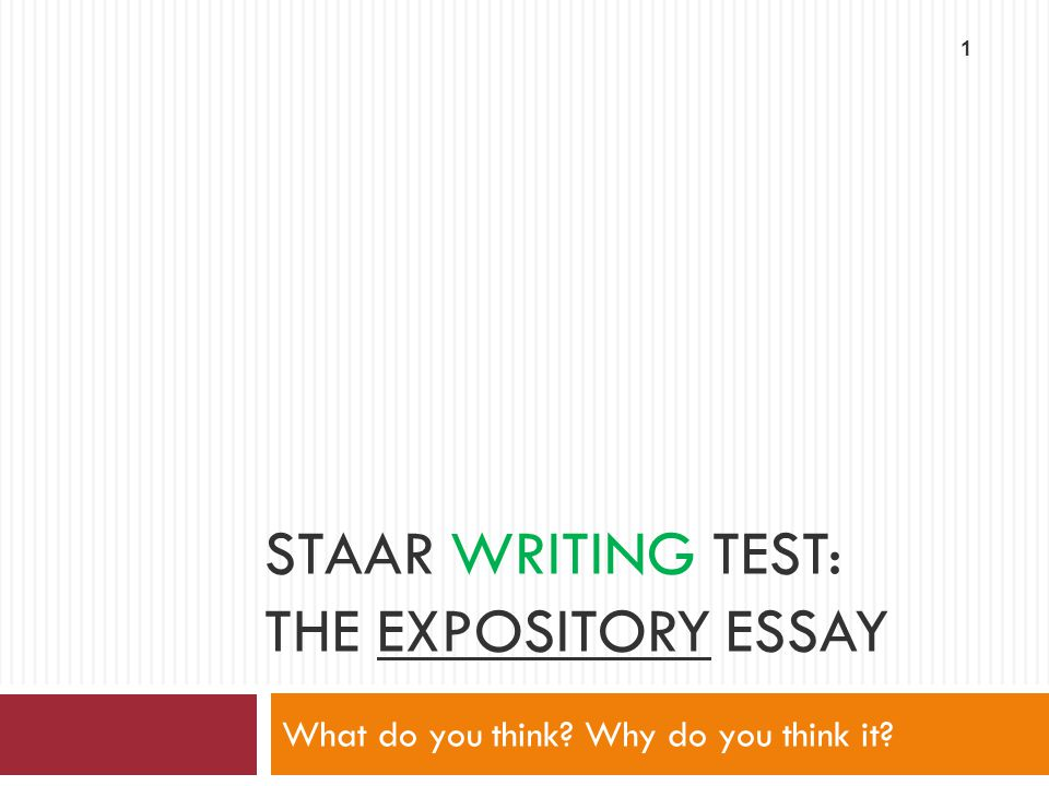 why do we write expository essays Students will be expected to write a range of expository essays in college — often  as final or midterm exams — that demonstrate their ability to organize and.