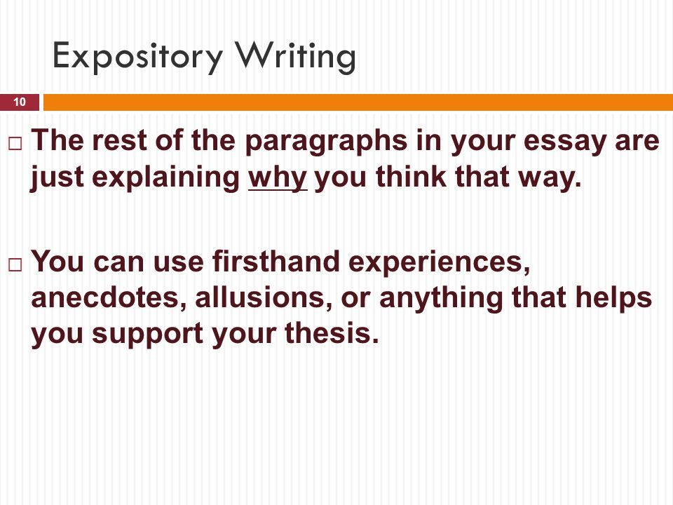 can you use i or me in an expository essay We can write your paper for you can you write my essay for me how many times do students worldwide ask this question without finding an answer.