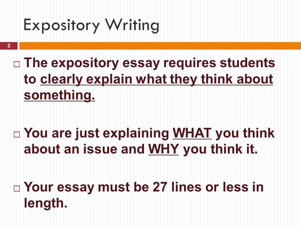Write Expository Essay