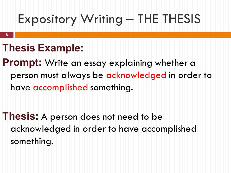 Thesis statement expository essay
