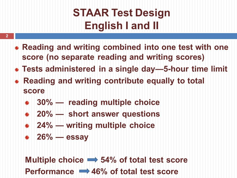 Staar English 2 persuasive essay Rubric