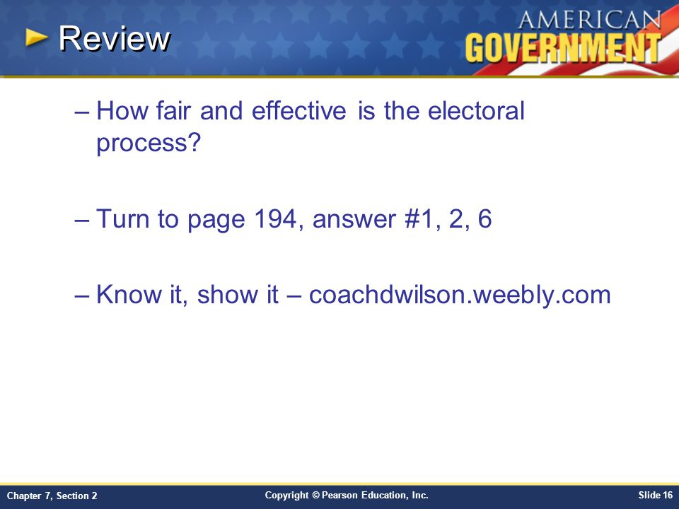 Review How fair and effective is the electoral process